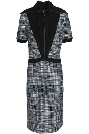 MISSONI Paneled crochet-knit wool-blend dress