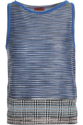 MISSONI Embroidered crepe top