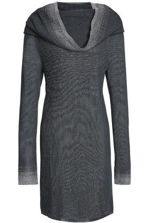 MISSONI Metallic-trimmed draped crochet-knit mini dress