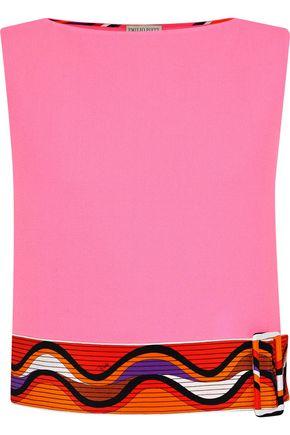 EMILIO PUCCI Buckle-embellished printed wool-blend top