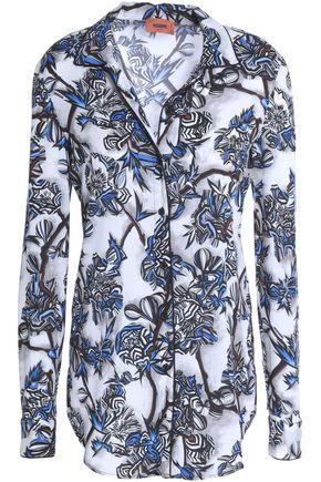 MISSONI Floral-print silk-blend crepe de chine shirt