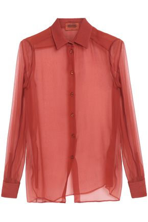 MISSONI Silk-georgette shirt