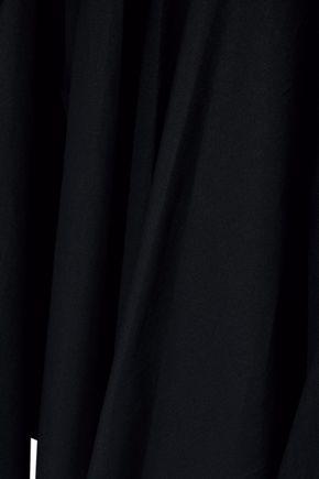 GOEN.J Draped poplin-paneled modal and cotton-blend top