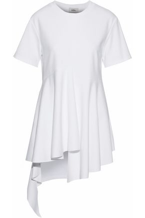 GOEN.J Asymmetric modal and cotton-blend top