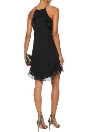 RACHEL ZOE Colby ruffled silk-chiffon mini dress