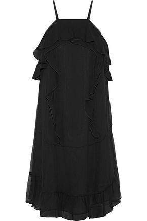 RACHEL ZOE Colby ruffle-trimmed silk-georgette mini dress