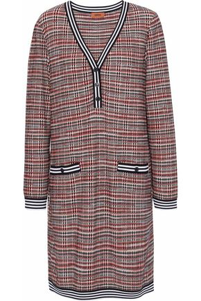MISSONI Checked wool-blend dress