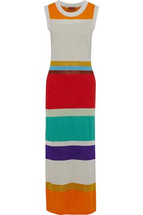 MISSONI Color-block knitted maxi dress