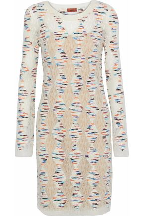 MISSONI Marled open-knit dress