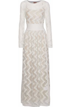 MISSONI Metallic open-knit maxi dress