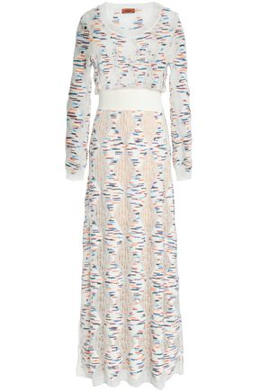 MISSONI Open and jacquard-knit maxi dress
