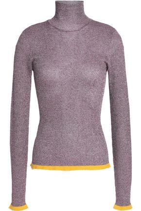 MISSONI Metallic ribbed-knit turtleneck sweater