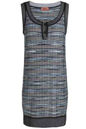MISSONI Jacquard-knit wool-blend mini dress