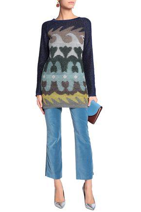 MISSONI Metallic jacquard-knit bouclé mini dress