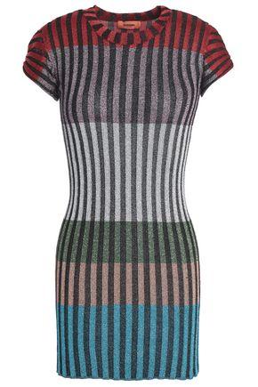 MISSONI Metallic striped ribbed-knit top