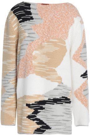 MISSONI Intarsia wool-blend sweater