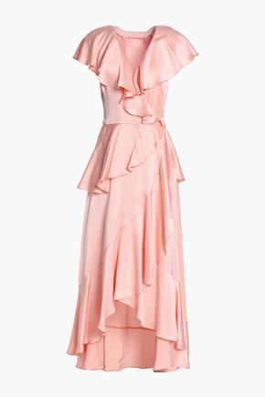 TEMPERLEY LONDON Juliette ruffled crepe-satin midi dress