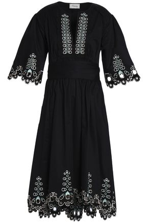 TEMPERLEY LONDON Amour broderie anglaise cotton-poplin dress