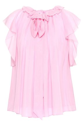 TEMPERLEY LONDON Ruffled silk-voile blouse