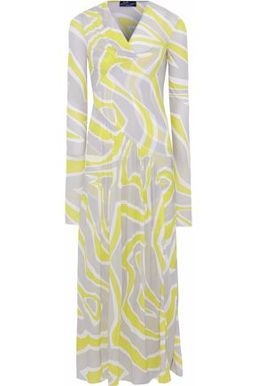 EMILIO PUCCI Printed stretch-jersey gown