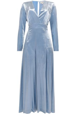 TEMPERLEY LONDON Flared velvet jumpsuit