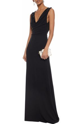 EMILIO PUCCI Embellished draped crepe gown