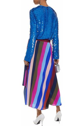 EMILIO PUCCI Sequined silk-chiffon top