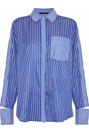 W118 by WALTER BAKER Samira cutout striped poplin shirt