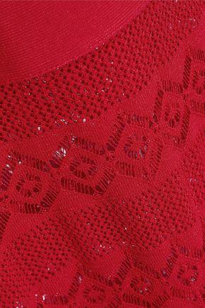 HERVÉ LÉGER Pointelle-paneled bandage gown