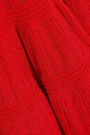 HERVÉ LÉGER Crochet knit-paneled bandage dress