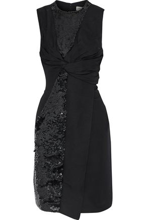 EMILIO PUCCI Twist-front sequin-embellished woven dress