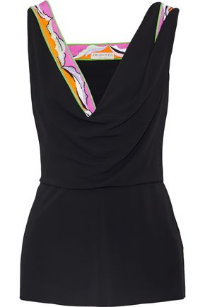EMILIO PUCCI Embellished printed jersey top