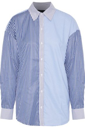 W118 by WALTER BAKER Mosse paneled striped Oxford shirt