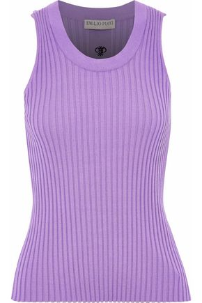 EMILIO PUCCI Ribbed-knit tank
