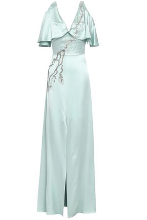 TEMPERLEY LONDON Embellished satin gown