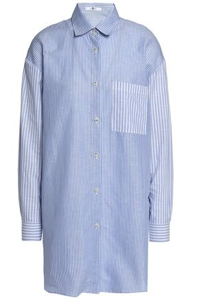 7 FOR ALL MANKIND Striped cotton and linen-blend shirt