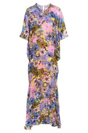 PREEN by THORNTON BREGAZZI Floral-print fil coupé chiffon midi dress