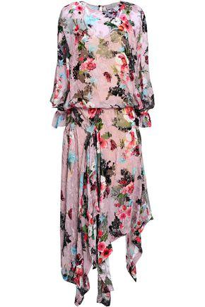 PREEN by THORNTON BREGAZZI Floral-print devoré-chiffon midi dress