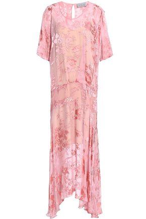 PREEN by THORNTON BREGAZZI Asymmetric devoré-chiffon midi dress