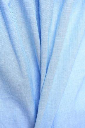 JOIE Ruffled cotton-chambray blouse