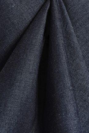 RAG & BONE Sahara embroidered cotton and silk-blend denim top