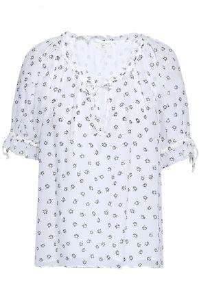 JOIE Printed silk-georgette top
