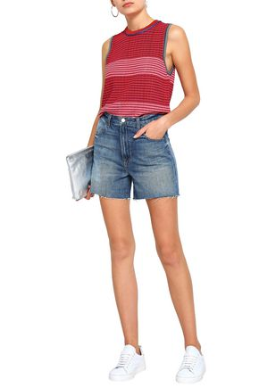 J BRAND Joan faded denim shorts