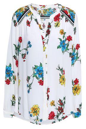 JOIE Floral-print silk crepe de chine shirt