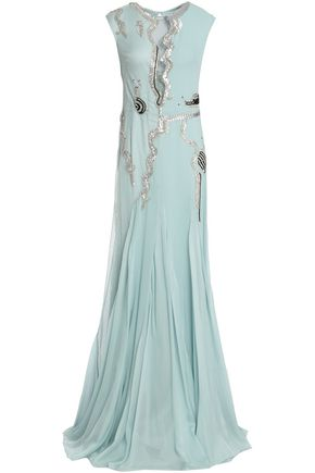 TEMPERLEY LONDON Embellished point d'esprit gown