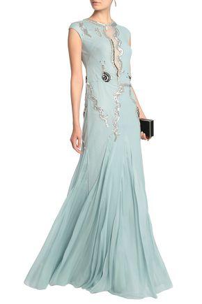TEMPERLEY LONDON Embellished point d'esprit gown