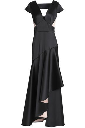 TEMPERLEY LONDON Paneled satin gown