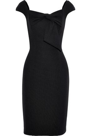 BADGLEY MISCHKA Bow-embellished ponte dress