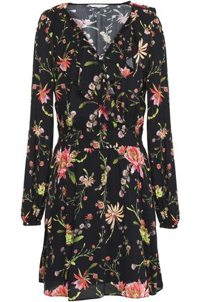 RACHEL ZOE Floral-print voile mini dress