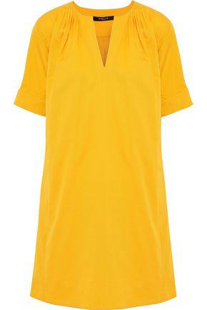 DEREK LAM Pleated stretch-cotton mini shirt dress